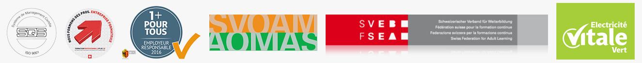 SWISSNOVA SUISSE est certifié: ISO, AOMAS, 1+ Pour tous
